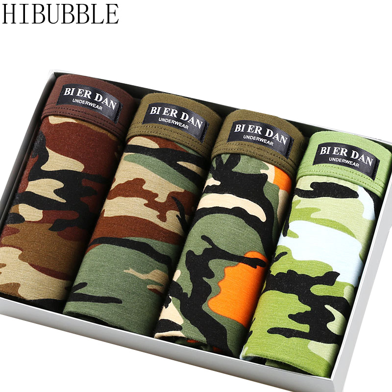 Camouflage Underwear Men Boxer Shorts Brand Breathable Modal Men Underwear Boxers Homme Sexy Pattern Cueca Boxer Hombre 2018