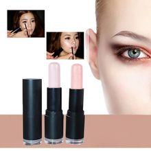 2 Colores Señora Pro Highlighter Palo de Brillo En Polvo Crema Impermeable Luz De Plata Caliente
