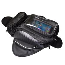 Waterproof Motorcycles Motorbikes Oil Fuel Tank Saddle Bag Pouch with Window big screen for phone / GPS
