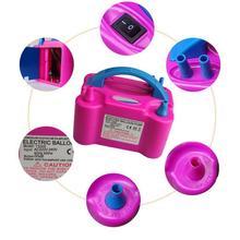 Bomba para inflar globos de aire portátil de doble orificio de alta tensión, bomba para inflar globos de aire