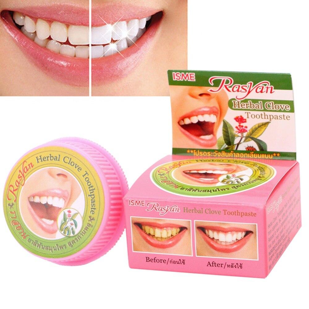 Травяная зубная паста Dentifrice отбеливающая зубы удаляет черные желтые пятна 5 г