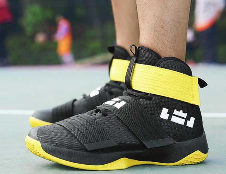 Clever Basketball Schuhe Für Männer Frühling Herbst 2019 Neue Ankunft Schwarz Weiß Lebron James High Top Sportschuhe Korb Homme Basketball-schuhe