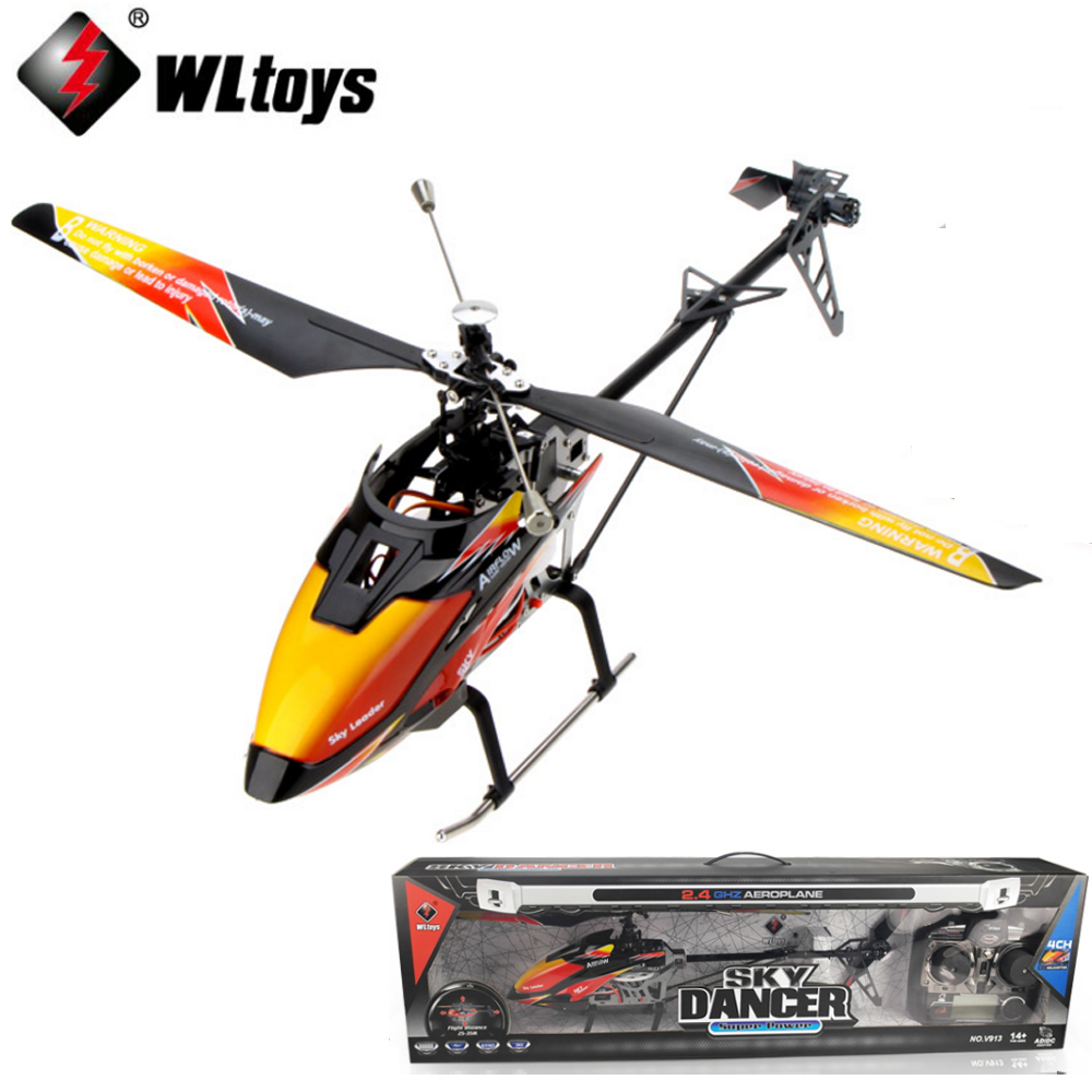 EMS/DHL Shipping original WLtoys V913 Single Propelle 4-CH 2.4GHz Large Helicopter Sky Dancer Uppgrade Version v911 v912 цена 2017
