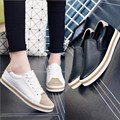 Shoes Women Flats Leather Round toe Lace up loafers Ladies platform Shoes Flats Woman Moccasins Female Footwear espadrilles