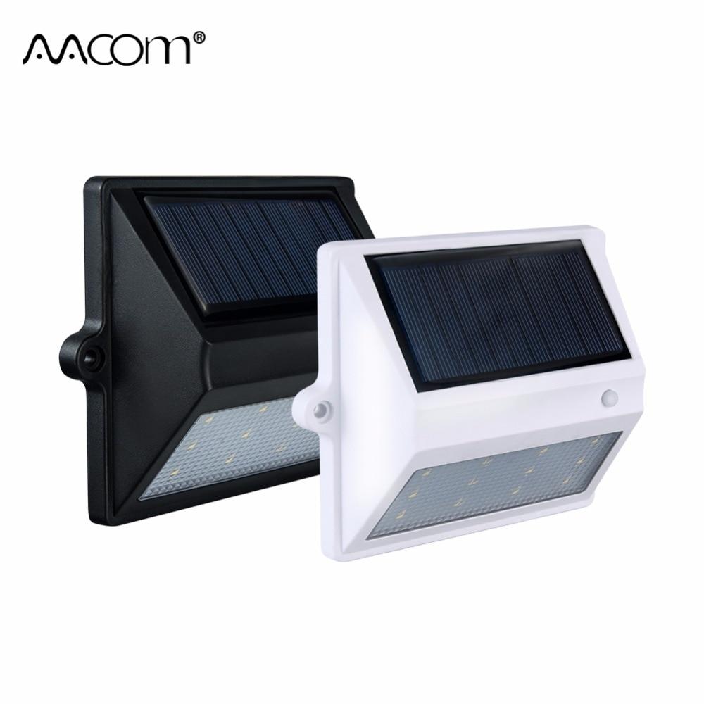 Hohe Lumen LED Solar Wandleuchte 8 12 LEDs Energiesparende LED Solar Licht Im Freien Garten Weg Straßenbeleuchtung