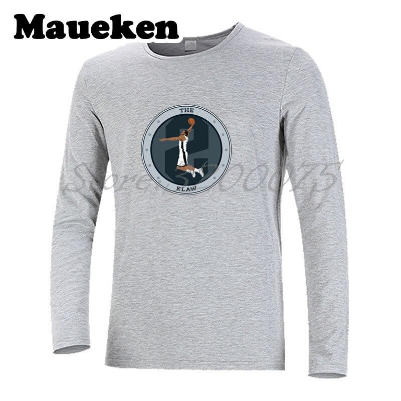 newest 7593d e191f US $21.88 |The KLAW Logo Kawhi Leonard KL2 Autumn Winter Men San Antonio  Kawaii T Shirt Long Sleeve Tees T SHIRT Men's W1022013-in T-Shirts from  Men's ...