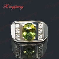 18 K White Gold 100 Natural Sapphire Ring Men Father Boyfriend Wedding Gift Boutique Jewelry Yellow