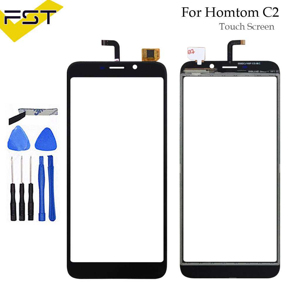 For Homtom C2 Touch Screen Digitizer 5.5'' Replacement For Homtom C2 Touch Panel Sensor Phone Accessories With Tools+Adhesive