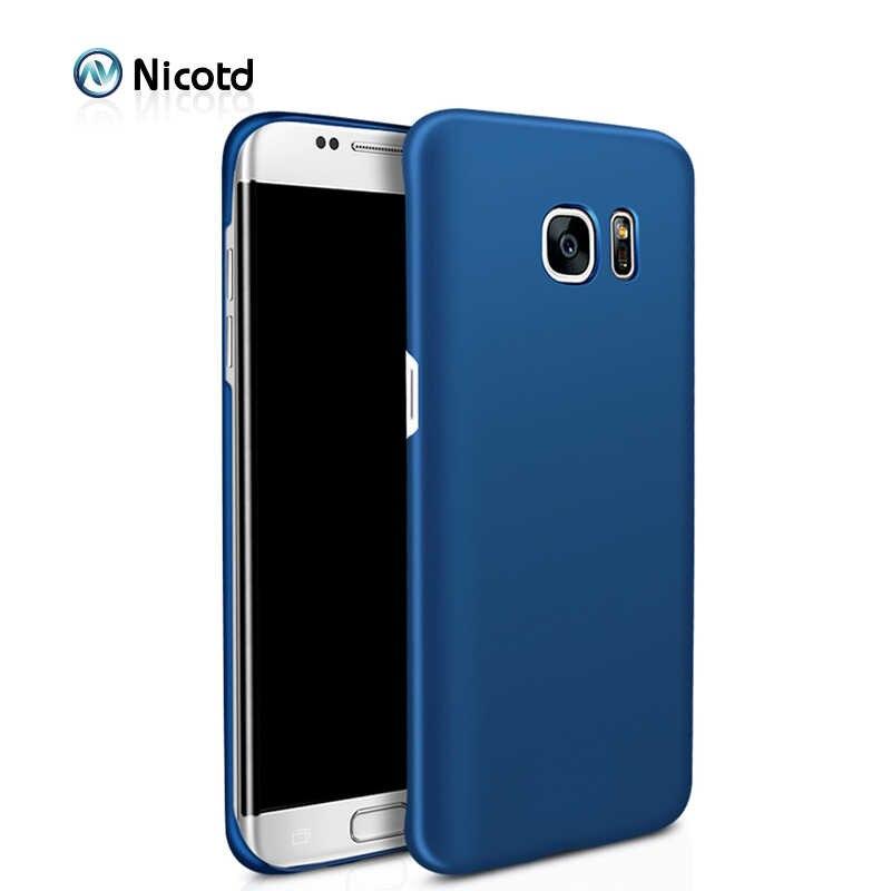 Nicotd Mewah keras Plastik Matte Kasus untuk Samsung S4 S5 S6 S8 Plus S7 tepi Penuh Penutup PC Kasus Ponsel Untuk Galaxy Note 3 4 5
