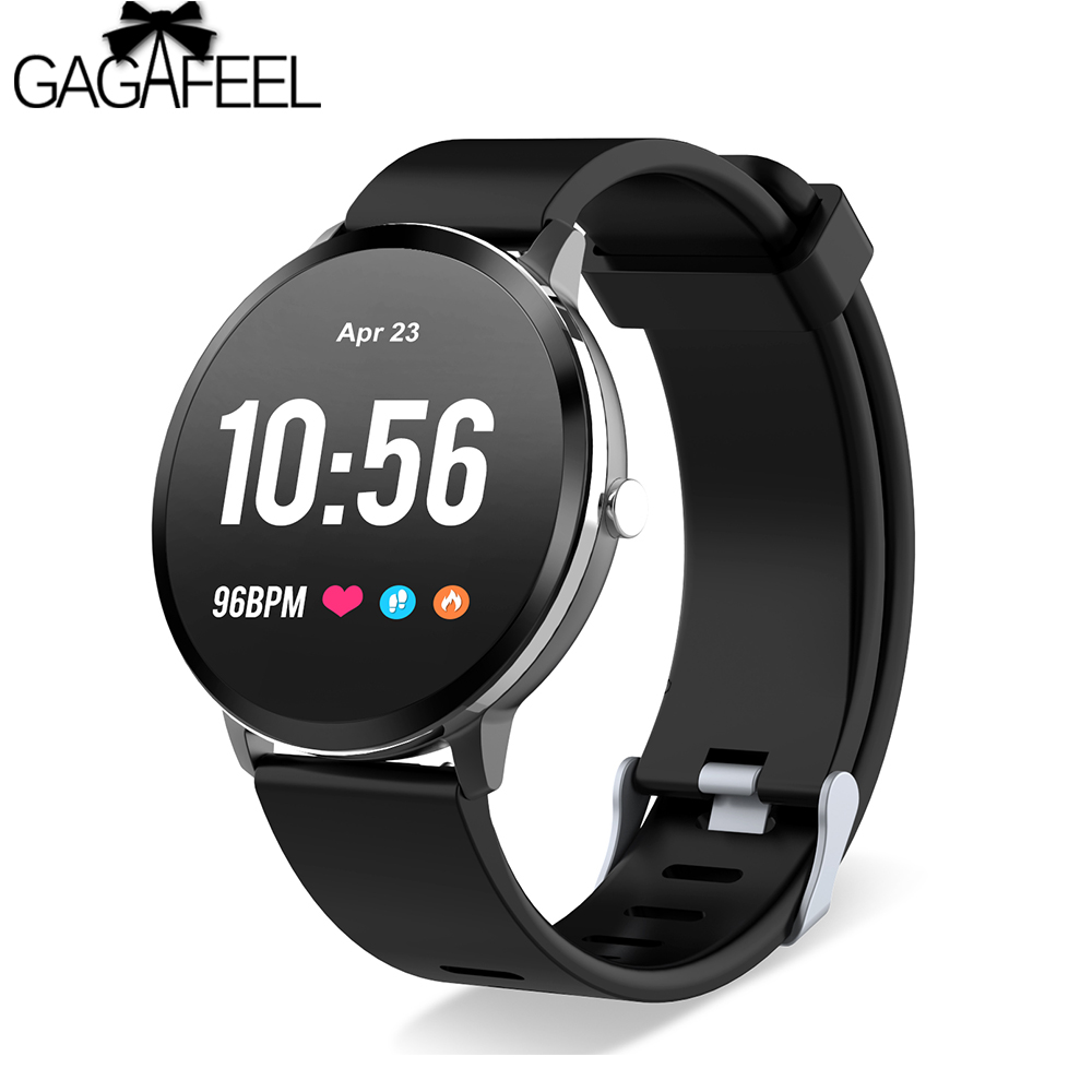 GAGAFEEL V11 Smart Watch Activity Fitness Tracker IP67 Waterproof Tempered Glass Heart Rate Monitor BRIM Men Women Smartwatch v11 smart watch ip67 waterproof tempered glass activity fitness tracker heart rate monitor brim men women fitness smart watch