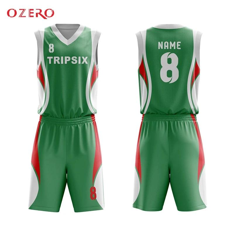 sublimation basketball uniform design green, green basketball jersey design china custom any logo name number pattern basketball