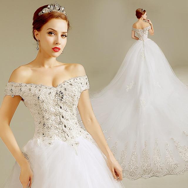 Full Plus size Vintage Western Wedding Gowns Slit neckline luxury ...