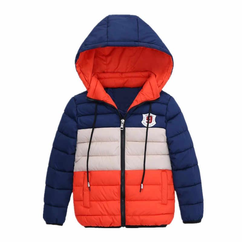 בני כחול חורף מעילים & Jacket ילדים רוכסן מעילי בני עבה חורף מעיל באיכות גבוהה ילד חורף מעיל ילדים בגדים