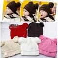 Gorros de Crochê bebê Chapéu Feito Malha Crianças Tampas Crianças Chapéus de Inverno Quente Menina Bebes newborn fotografia props Chapéu de Balde Bonet