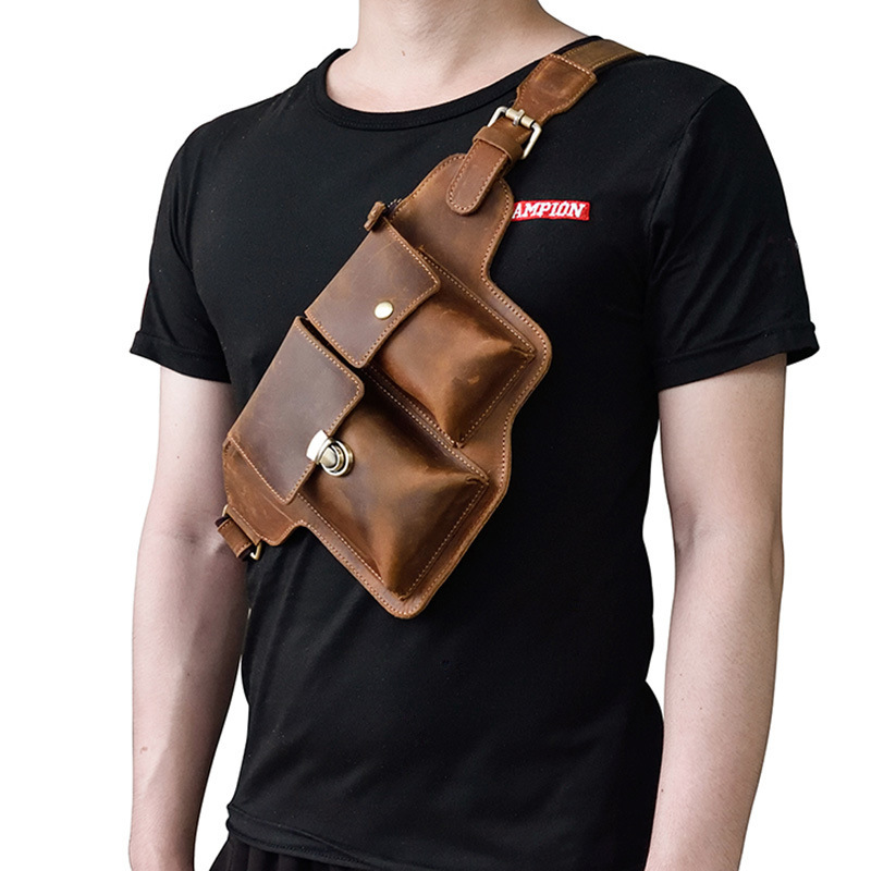 Genuine Leather Waist Packs Fanny Pack Belt Bag cell Phone Pouch Bags Travel Waist Pack Male Small Waist Bag Leather Pouch цены