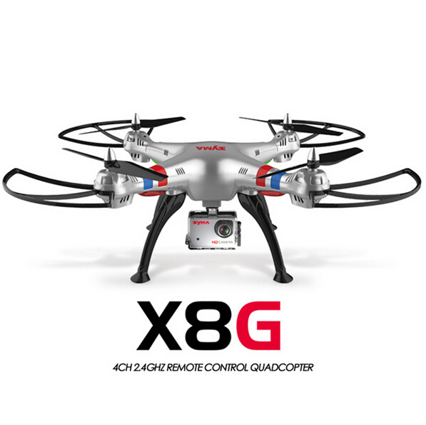 Original Syma X8G 2.4G 6 Axis Gyro 4CH RC Quadrocopter Headless mode Professional Drones with 5MP Camera hd original syma x8g 2 4g 4ch headless mode rc quadcopter helicopter drones with 8mp hd camera model 2