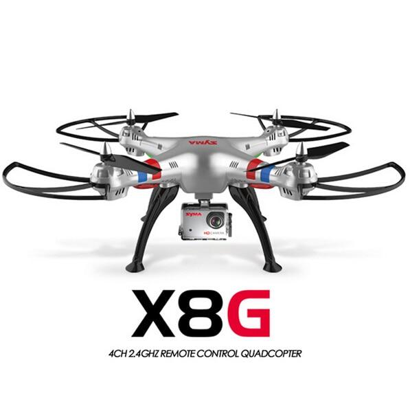 Originale Syma X8G 2.4G 6 Axis Gyro 4CH RC Quadrocopter modalità Headless Professionale Droni con Fotocamera DA 5MP hd