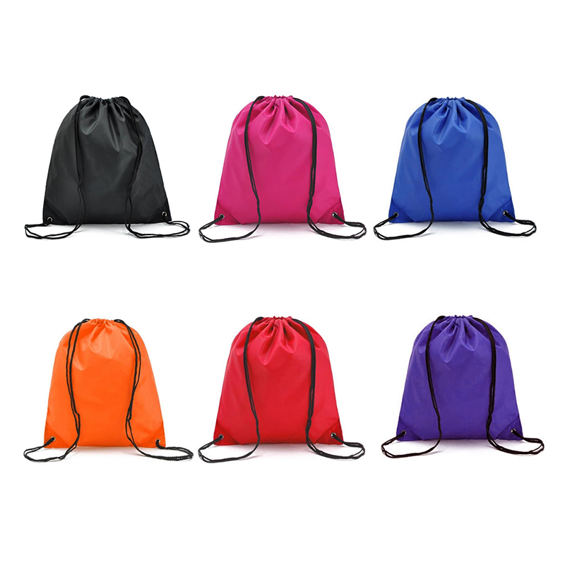 Drawstring Waterproof Bag High Quality Clothes Organizer Personalised Sports Gym Bag Durable Clothes Shoes Ultra-Light Nylon