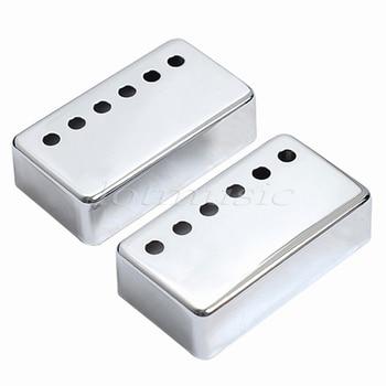 10 pares cromo carcasa para pastilla humbucker 50/52mm puente/cuello Pickup cubiertas para guitarra eléctrica reemplazo