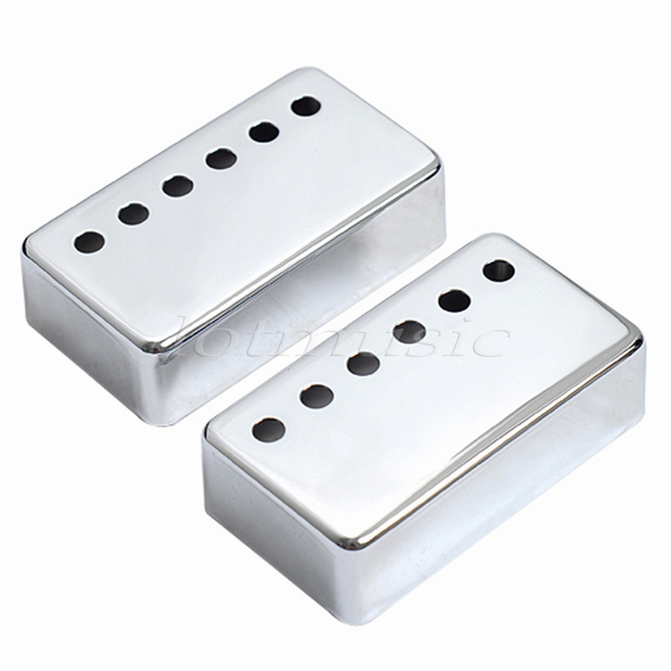 10Pairs Chrome Humbucker Pickup Cover 50/52mm Bridge/Neck Pickup Covers For Electric Guitar Replacement kmise chrome plated metal truss rod cover for electric guitar replacement pack of 50