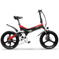 G650 20 Inch Folding Electric Bike 400W Motor 5 Level Pedal Assist Full Suspension Mountain Bike (No Battery)