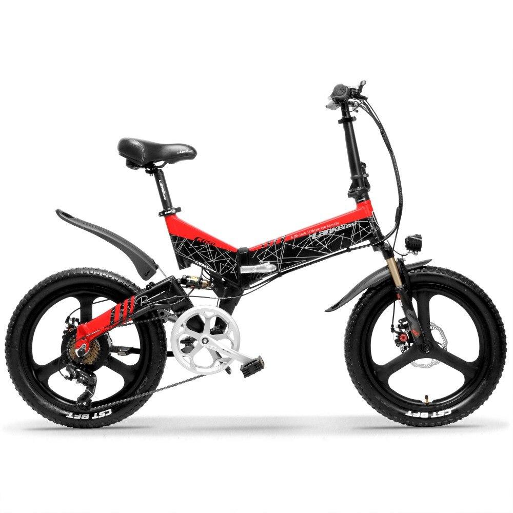G650 20 pouces vélo électrique pliant 400W moteur 10.4Ah/14.5Ah Li-ion batterie 5 niveaux pédale assistance Suspension complète VTT
