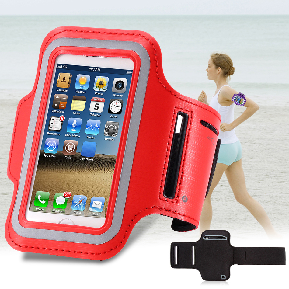 Running Sport Waterproof Phone Armband For Iphone 7 6 6s Plus Case For Samsung 4.7 5.7 Inch Universal Pu Mobile Phone Bag Shells Cellphones & Telecommunications