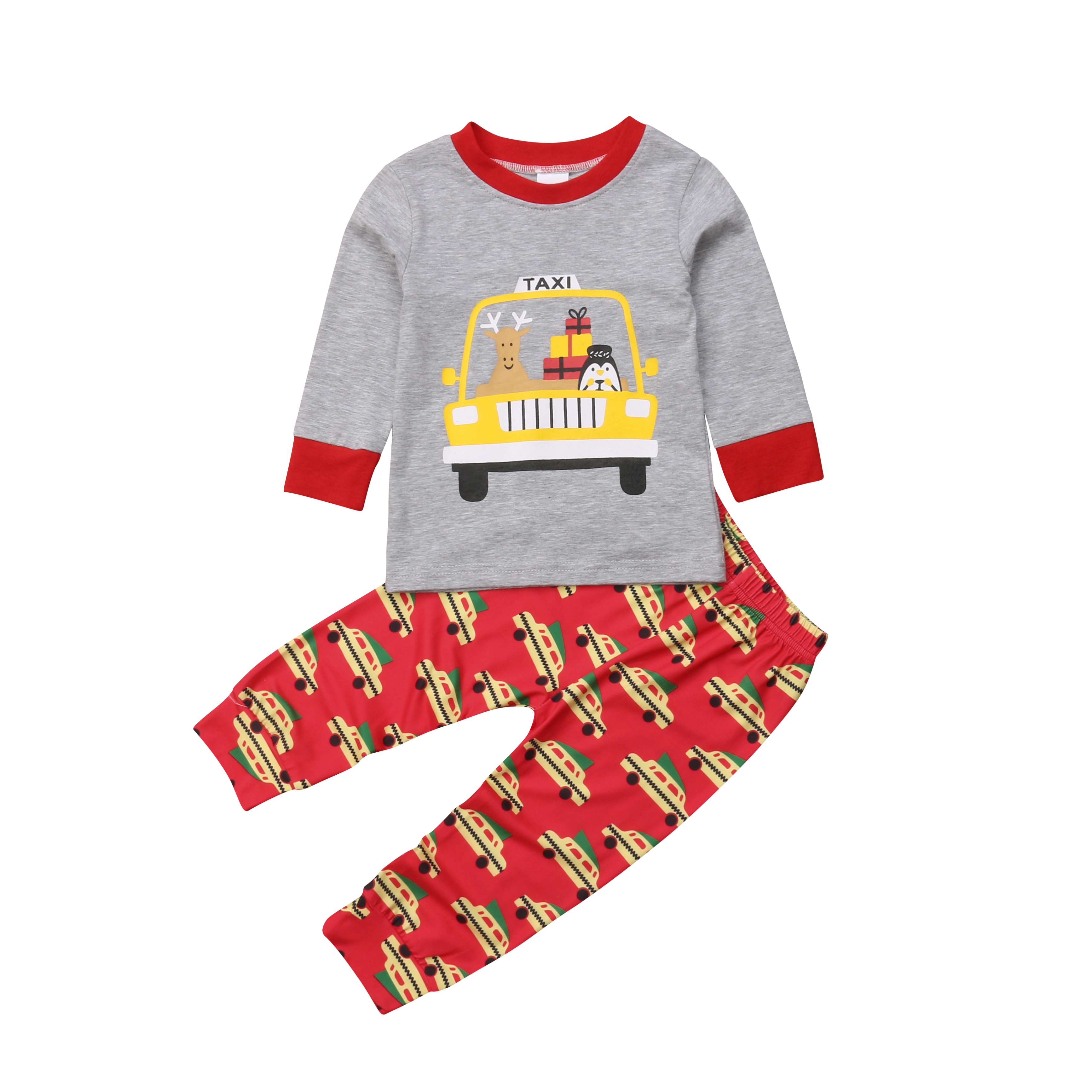 2Pcs Kids Clothes Set Baby Boys Tops Car Print Leggings Pants Outfits Tracksuit Cotton Casual Party Clothes Kid 1-6T 1 5y 2pcs set summer casual baby boy clothes cotton frog printedshort sleeve tees tops pants outfits