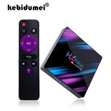 TV Box For Android 9.0 H96 max 3318 Rockchip Quad Core 100m LAN 2G 16G/4GB 3GB/64GB 2.4G/5G Wifi Bluetooth 4.0 H96 max 4K USB3.0