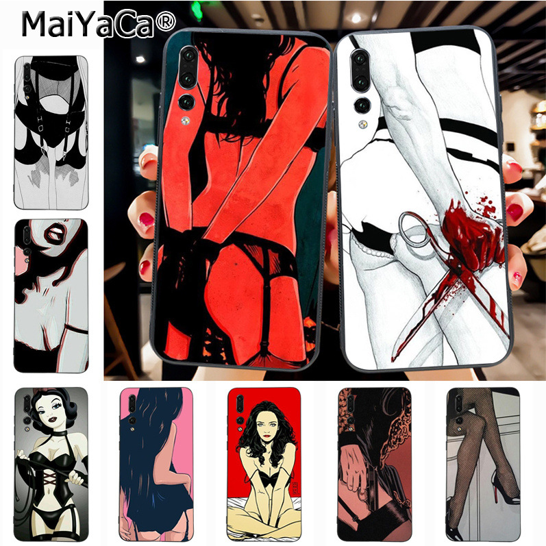 Maiyaca Sexy cartoon girl Luxury High-end phone Accessories Case for Huawei P20 P20 pro Mate10 P10 Plus Honor9 cass(China)