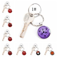 Rinnegan Eyes Naruto Key Ring Sharingan Eye Key Chain Uchiha Uzumaki Clan Logo Anime Pendant Cosplay Lover Gift(China)