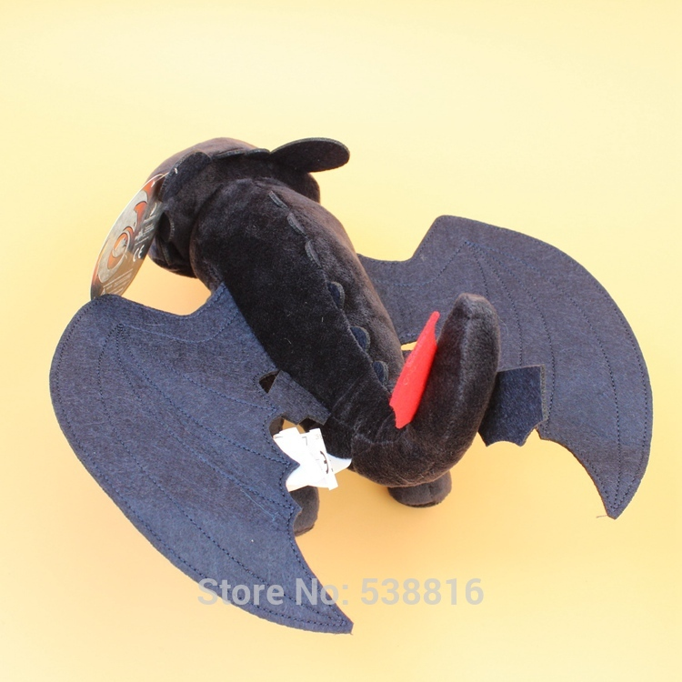 Stuffed e Plush Animais seu dragão preto dragão desdentado Tipo de Ítem : Animals