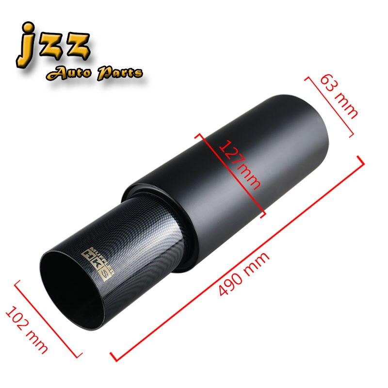 JZZ COZMA universal car exhaust tip 63mm burned black sport sound muffler for auto 102 mm