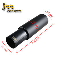 JZZ COZMA universal car exhaust tip 63mm burned black sport sound muffler for auto 102 mm stainless steel fashionable tailpipe