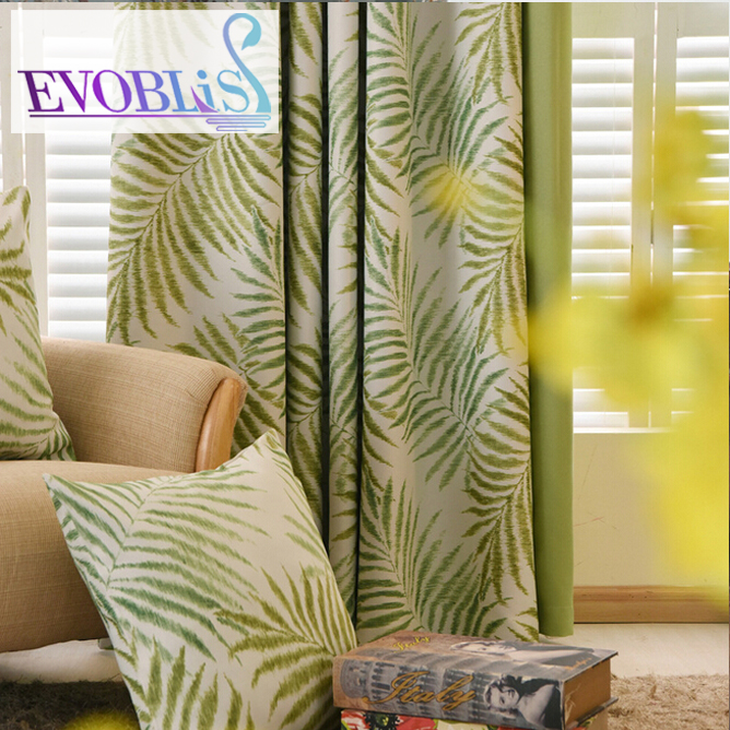 2016 New Hawaiian Tropic curtains for living room rideaux pour le salon window curtain cortinas living room blackout curtains