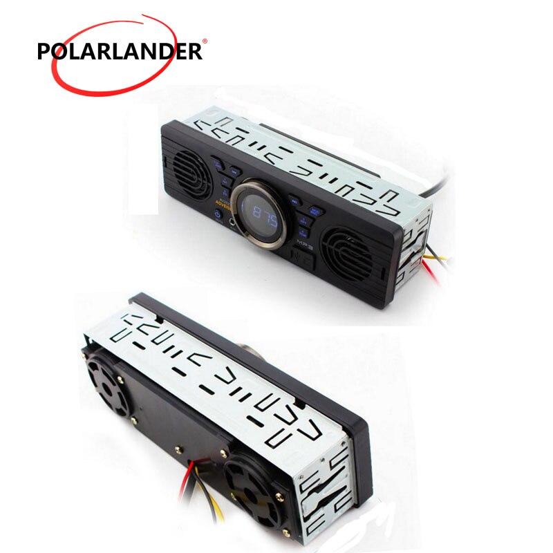 12 в 1 Din автомагнитола автомобильный стерео аудио mp3-плеер Bluetooth Handfree Встроенный 2 динамика в тире FM USB SD AUX в AV252