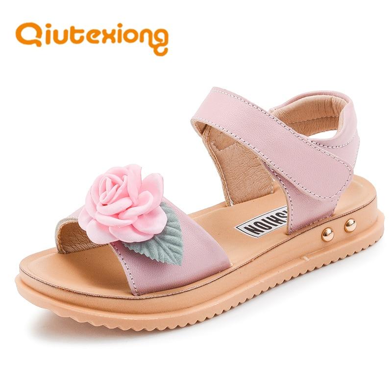 QIUTEXIONG Sandalias de Las Niñas de Cuero Genuino Zapatos de Los - Zapatos de niños