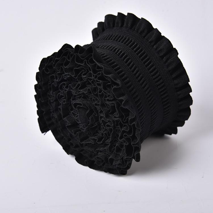 Elastic Waistband 5cm/7.5cm Two Size 1 Meter Black Lace Elastic Waist Belt Bands Garment DIY Accessories Jacquard