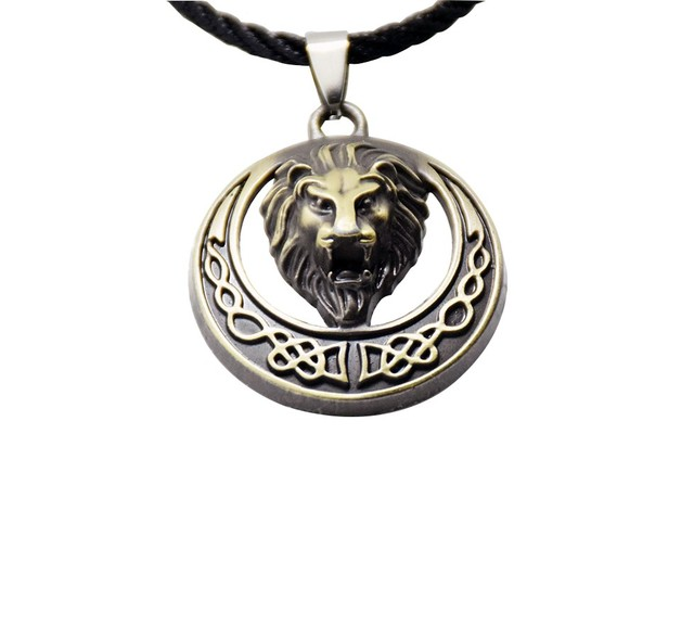 Hiphop style men necklaces jewelry bronze round alloy africa lion hiphop style men necklaces jewelry bronze round alloy africa lion head pendant necklace man drop shipping aloadofball Images