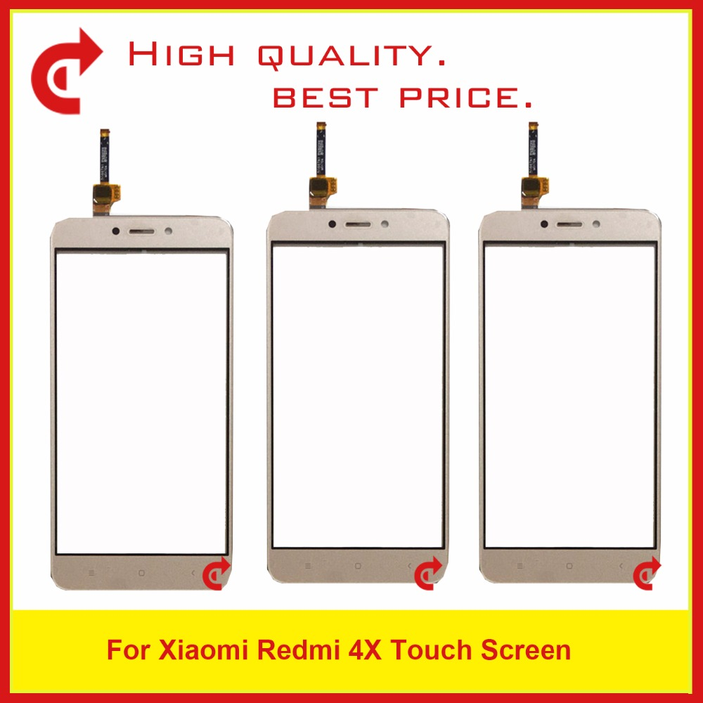 High Quality 5.0 For Xiaomi Redmi 4X Touch Screen Outer Glass Lens Panel Digitizer Sensor Black White Gold