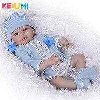 Handsome 23'' Reborn Baby Dolls Full Body Silicone Vinyl Lifelike 57 cm Babies Reborn For Kids Playmates Gift Toys