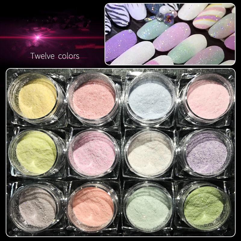 Avon Chrome Nail Powder: 12 ColorSugar Coated Fine Flicker Powder Nail Glitter
