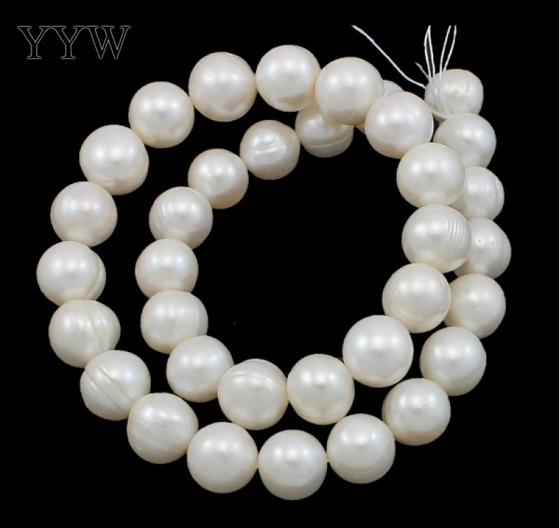 YYW Grade AA 11-12mm 100% Natural Freshwater Pearl Beads white Pearl Round Loose Beads For DIY Necklace Bracelat Jewelry Making недорго, оригинальная цена