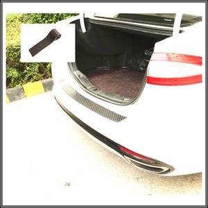 Image 3 - Rubber Sticker Rear Guard Bumper Protector Trim Cover Trunk Scratch Pad Car Styling