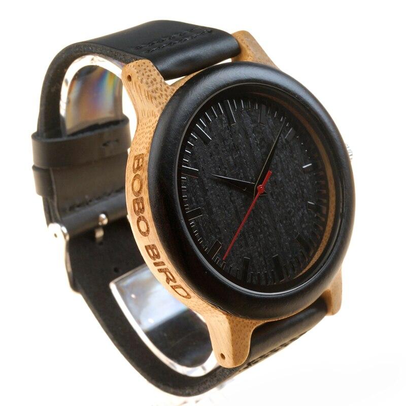 BOBO BIRD M13 Ebony ξύλινο αναλογικό ρολόι - Ανδρικά ρολόγια - Φωτογραφία 4