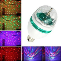 E27 Full Color 3W RGB LED Projector Crystal Stage Light Magic Ball DJ Dace Party Disco