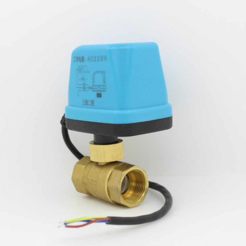 AC220V Electric Ball Valve Brass Motorized Ball Valve Switch type electric two-way valve DN15 DN20 DN25 DN32 DN40 DN50 цена