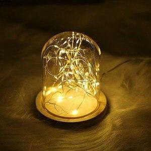 Image 3 - 写真の小道具ledストリングライト常夜灯ガラスボトル花輪のための妖精の結婚式クリスマスパーティー寝室の装飾の写真