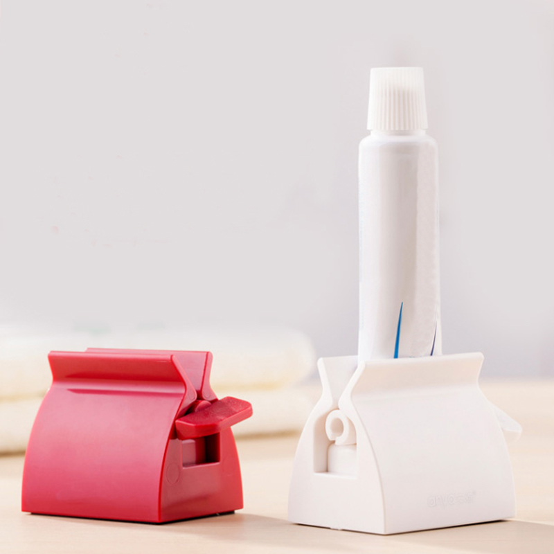 Creative Toothpaste Rolling Tube Multifunctional Bathroom Cream Cleansing Milk Toothpaste Squeezer Stand Holder Dispenser