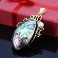 L015 Abalone conchas conchas do mar branco pérola artesanato pingente, Fit moda feminina de jóias DIY fazendo atacado frete grátis